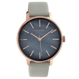 Oozoo C10116 Damen-Armbanduhr Dunkelgrau/Hellgrau 42 mm