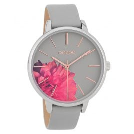 Oozoo C9742 Ladies' Watch with Leather Strap Stonegrey 42 mm