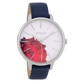Oozoo C9743 Ladies' Watch Dark Blue/White 42 mm