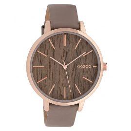 Oozoo C9748 Damenarmbanduhr Taupe/Holz 42 mm