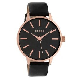 Oozoo C9754 Ladies' Watch with Leather Strap Black 42 mm