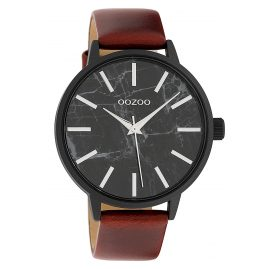 Oozoo C9759 Damenuhr Braun/Marmoroptik Schwarz 42 mm
