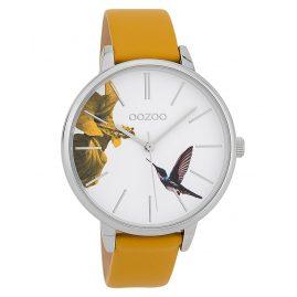 Oozoo C9761 Damenuhr Kolibri Senfgeld/Weiß 42 mm