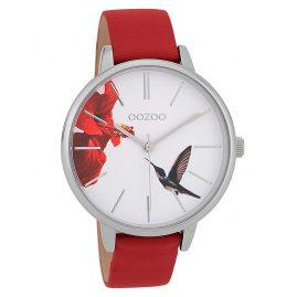 Oozoo C9762 Damenuhr Kolibri Dunkelrot/Weiß 42 mm