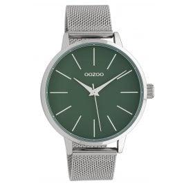 Oozoo C10006 Damenarmbanduhr Grün/Silber 42 mm