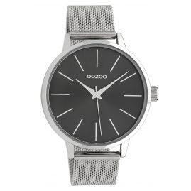 Oozoo C10007 Damenuhr Schwarz/Silber 42 mm