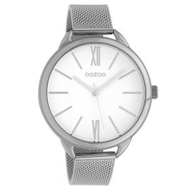 Oozoo C10134 Wristwatch White/Silver 45 mm