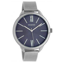 Oozoo C10137 Wristwatch Dark Blue/Silver 45 mm