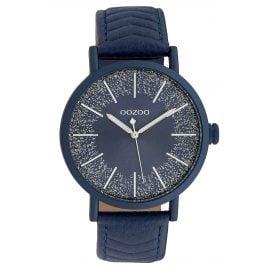 Oozoo C10147 Ladies' Watch Leather Strap Blue 42 mm