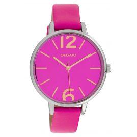 Oozoo C10154 Damen-Armbanduhr Lederband Fuchsia 40 mm