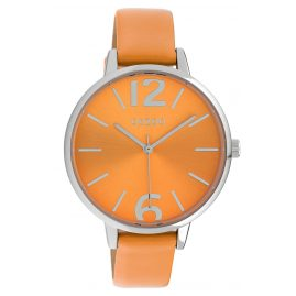 Oozoo C10155 Quarz Damenuhr Lederband Orange 40 mm