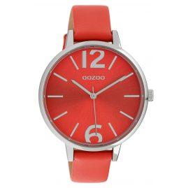 Oozoo C10156 Damen-Armbanduhr Lederband Rot 40 mm