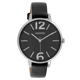 Oozoo C10157 Ladies' Watch Leather Strap Black 40 mm