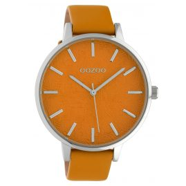 Oozoo C10161 Damenuhr Lederband Orange 45 mm