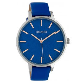 Oozoo C10159 Ladies' Watch Leather Strap Dark Blue 45 mm