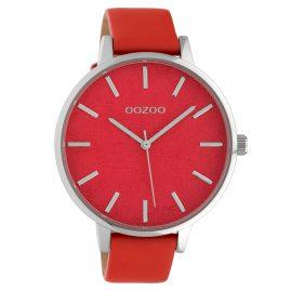 Oozoo C10160 Damen-Armbanduhr Lederband Rot 45 mm