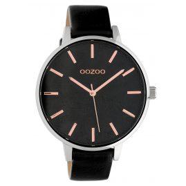 Oozoo C10162 Damen-Armbanduhr Lederband Schwarz 45 mm