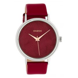 Oozoo C10164 Damen-Armbanduhr Lederband Burgunder 42 mm