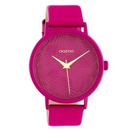 Oozoo C10167 Damenuhr mit Lederband Pink 42 mm