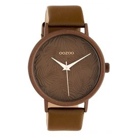 Oozoo C10171 Damenuhr mit Lederband Braun 42 mm