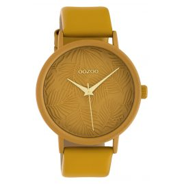Oozoo C10172 Women's Watch with Leather Strap Mustard Yellow
