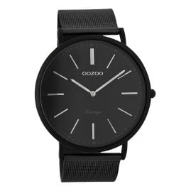 Oozoo C7383 Vintage Mens Watch Black 44 mm