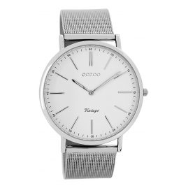 Oozoo C7385 Vintage Watch White/Silver 40 mm
