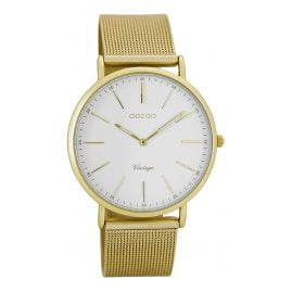 Oozoo C7397 Vintage Ladies Watch White/Gold 36 mm