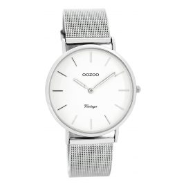 Oozoo C7728 Vintage Ladies Watch White/Silver 36 mm