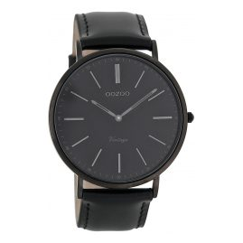 Oozoo C7301 Vintage Armbanduhr Schwarz 44 mm