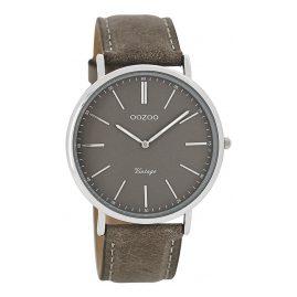 Oozoo C7331 Vintage Damen-Armbanduhr Hellgrau 40 mm