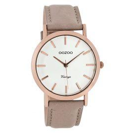 Oozoo C8112 Vintage Damen-Armbanduhr Taupe 38 mm