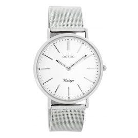 Oozoo C7395 Vintage Damen-Armbanduhr Silber/Weiß 36 mm