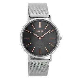 Oozoo C8145 Vintage Damen-Armbanduhr Silber / Grau 36 mm