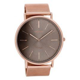 Oozoo C8178 Vintage XL Watch Rose Gold/Warm Grey 44 mm