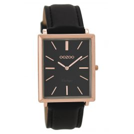 Oozoo C8189 Ladies Watch Vintage Black 31 x 37 mm