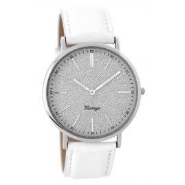 Oozoo C8190 Damenuhr Vintage Weiß/Silber 40 mm