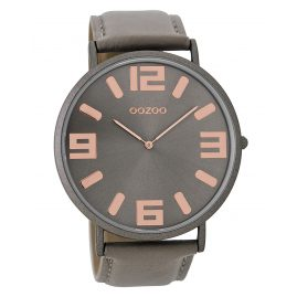 Oozoo C8852 Mens Watch with Leather Strap Vintage Taupe 48 mm