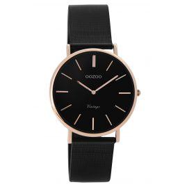 Oozoo C8871 Damen-Armbanduhr Vintage Schwarz/Rosé 32 mm