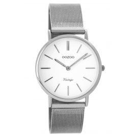 Oozoo C8872 Ladies Watch Vintage Silver/White 32 mm