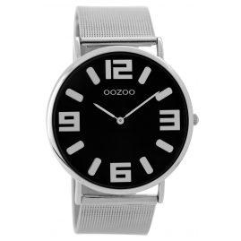 Oozoo C8881 Unisex Armbanduhr Silber/Schwarz 42 mm