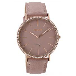 Oozoo C8886 Ladies Wrist Watch Vintage Pinkgrey 40 mm
