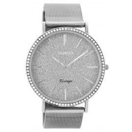 Oozoo C8891 Ladies Watch Vintage Silver Tone 40 mm