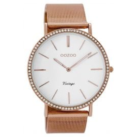 Oozoo C8893 Damenarmbanduhr Vintage Rosé/Weiß 40 mm