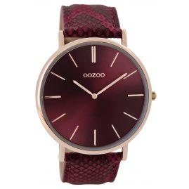 Oozoo C9303 Armbanduhr Vintage Bordeaux/Snake 44 mm