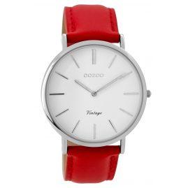 Oozoo C9307 Armbanduhr Vintage Rot/Weiß Unisex 40 mm