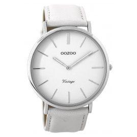 Oozoo C9310 Armbanduhr Vintage Weiß/Silber 44 mm