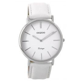Oozoo C9311 Armbanduhr Vintage Weiß/Silber 40 mm