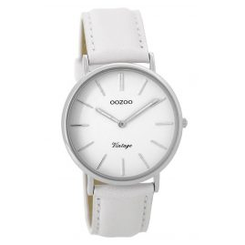 Oozoo C9312 Damenuhr Vintage Weiß/Silber 36 mm