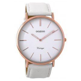 Oozoo C9314 Armbanduhr Vintage Weiß/Rosé 44 mm